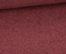 Bio-Baumwoll Fleece - Uni - 155cm - Dunkelrot Melange