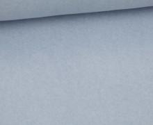 Bio-Baumwoll Fleece - Uni - 155cm - Pastellblau Melange