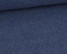 Bio-Baumwoll Fleece - Uni - 155cm - Taubenblau Melange