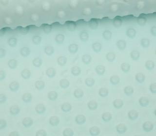 Minky - Microfaser-Plüsch - Dots - Punkte - Mint Hell