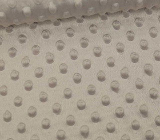 Minky - Microfaser-Plüsch - Dots - Punkte - Sand