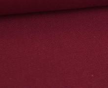 Canvas Stoff - feste Baumwolle - Uni - Weinrot