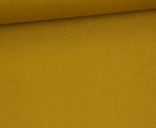 Canvas Stoff - feste Baumwolle - Uni - Senfgelb