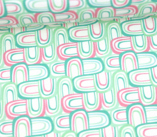 Jersey - Ecru - Bio Qualität - Retro Rainbows Mini - Mint - Anna Anjos - abby and me