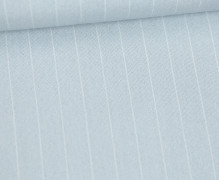 Viskose - Fashionstoff - Blusenstoff - Nadelstreifen - 15mm - Pastellblau