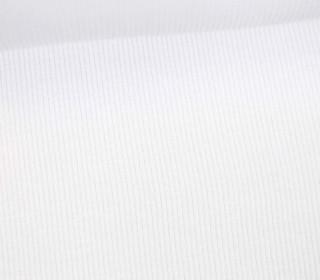 Bündchen - Rippen - Schlauchware - Weiß