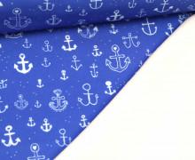 Softshell - Fleece - Anker - maritim - Blau/Weiß