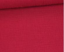 Musselin - Muslin - Uni - Double Gauze - Schnuffeltuch - Windeltuch - Rot