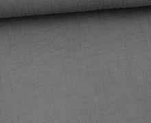 Musselin Lotta - Muslin - Uni - Double Gauze - 130gr - Schnuffeltuch - Windeltuch - Grau