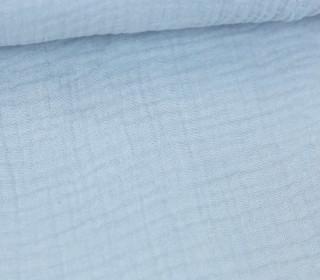 Musselin Lotta - Muslin - Uni - Double Gauze - 130gr - Schnuffeltuch - Windeltuch - Pastellblau