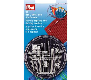 30 Nadeln - Nadel-Set - Näh/Stick/Stopf-Nadeln - Prym - Silber