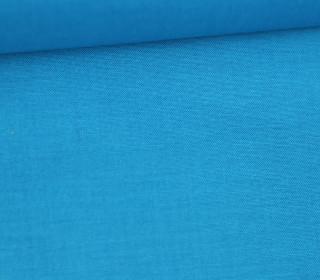 Baumwollstoff - Cretonne - Uni - Cyanblau
