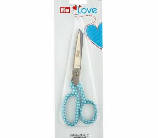 1 Stoffschere - 18cm - Prym Love - Gepunktet - Hellblau