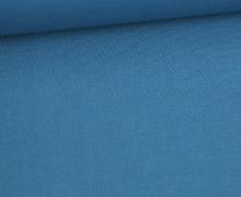 Stoff - Cretonne - Baumwolle - Uni - 145cm - Taubenblau