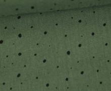 Musselin - Muslin - Punktemeer - Double Gauze - Olivgrün