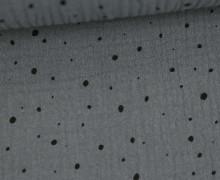 Musselin - Muslin - Punktemeer - Double Gauze - Grau