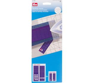 2 Bügellineale - Universal - 10cm x 30cm und 5cm x 15cm - Hitzebeständig - Prym - Transparent/Lila