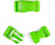 2 Steckschnallen - 20mm - Kunststoff - Hellgrün