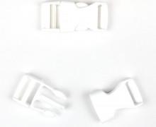 2 Steckschnallen - 20mm - Kunststoff - Weiß