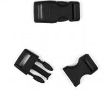 2 Steckschnallen - 10mm - Kunststoff - Schwarz - Matt