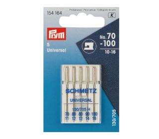5 Nähmaschinen Nadeln - Universal - Nr.70-100 -  Prym - Silber