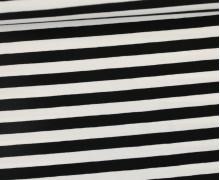 Jersey - Streifen - Breit - Schwarz/Weiß