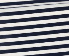 Jersey - Streifen - Breit - Schwarzblau/Weiß