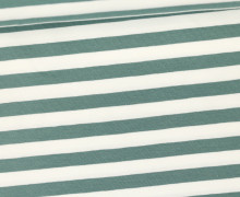Jersey - Streifen - Breit - Lichtgrün/Weiß