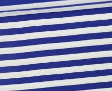 Jersey - Streifen - Breit - Royalblau/Weiß