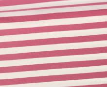 Jersey - Streifen - Breit - Altrosa/Weiß