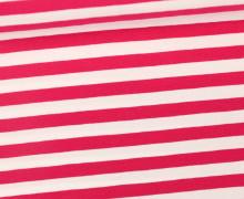 Jersey - Streifen - Breit - Pink/Weiß