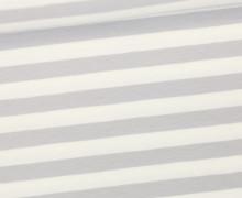 Jersey - Streifen - Breit - Hellgrau/Weiß