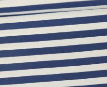Jersey - Streifen - Breit - Dunkelblau/Weiß