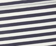 Jersey - Streifen - Breit - Grau/Weiß
