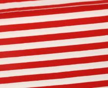 Jersey - Streifen - Breit - Rot/Weiß