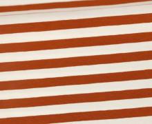 Jersey - Streifen - Breit - Braun/Weiß