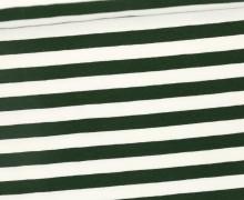 Jersey - Streifen - Breit - Dunkelgrün/Weiß
