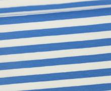 Jersey - Streifen - Breit - Blau/Weiß