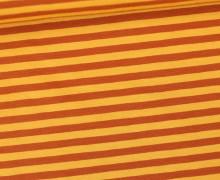 Jersey - Streifen - Ockergelb/Braun