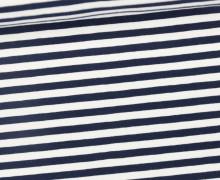 Jersey - Streifen - Schwarzblau/Weiß