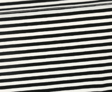 Jersey - Streifen - Schwarz/Weiß