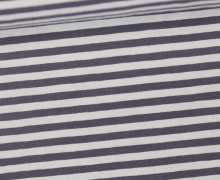 Jersey - Streifen - Hellgrau/Dunkelgrau