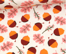 Sommersweat - Acorns And Leaves - Orange - abby and me