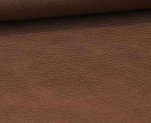 Kunstleder - Fashionstoff - Nappa - Uni - 140cm - Bronze Dunkel