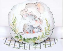 Kissenstoff - DIY - Kuschlige Wildnis - Elefanten - Sammelwimpel - abby and me