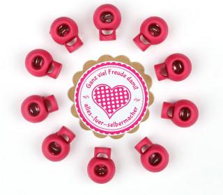 10 Kordelstopper - Rund - ø 7mm - Pink