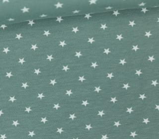 Jersey - Sterne - Klein - Lichtgrün/Weiß