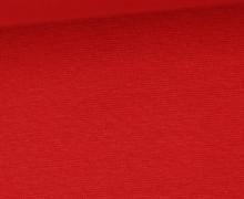 WOW Angebot - Glattes Bündchen - Uni - Schlauch - Erdbeerrot
