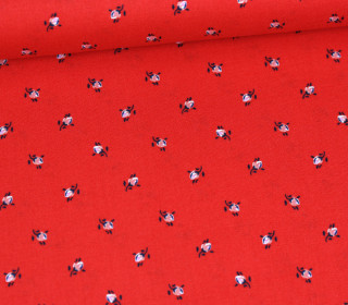 Baumwollstoff - Folklore - Blümelein Mini - Rot