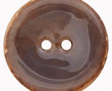 1 Kokosknopf - Echt Kokos - 30mm - 2-Loch - Graubraun
